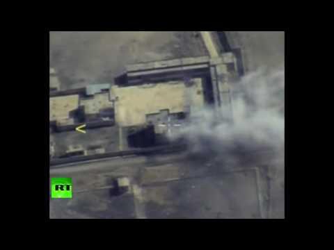 Минобороны опубликовало видео уничтожения командного пункта ИГ в районе Ракки