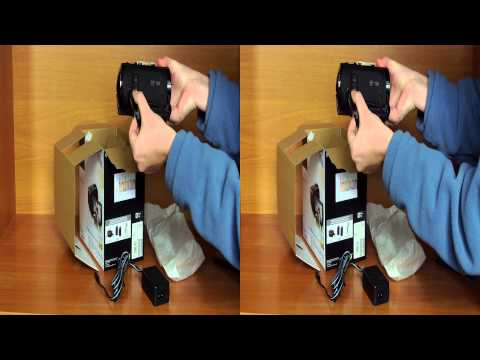 Unboxing of Sony HDR-TD30VE digital camcorder in Full 3D HD