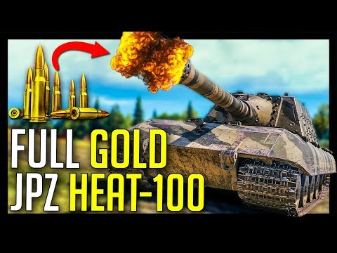 ► Full Gold JagdPanzer HEAT-100 with 420 Penetration - World of Tanks JagdPanzer E-100 Gameplay