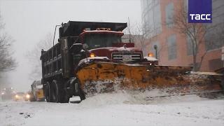 Восточное побережье США замело снегом