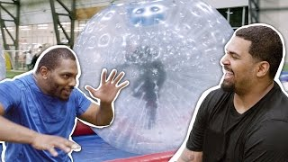 NFL Players Zorbing Showdown! by Whistle Sports