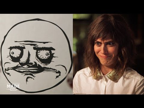 Lizzy Caplan Imitates Rage Faces
