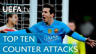 Download Video Top 10 counter attack goals - including Lionel Messi v Arsenal MP3 3GP MP4