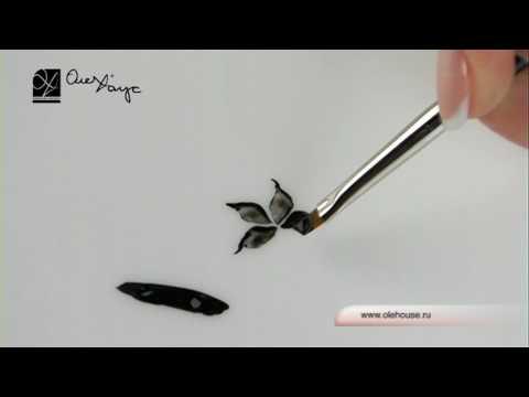 Кисть лепесток для дизайна ногтей