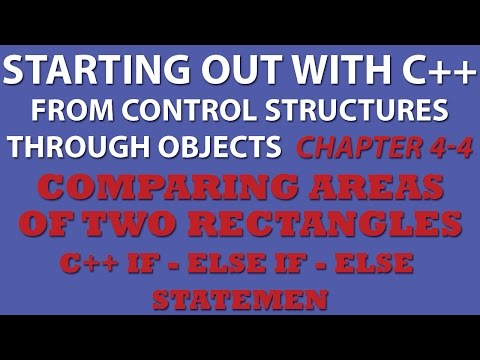C++ Programming Challenge 4-4: Comparing Area of Rectangles (C++ If Statements)