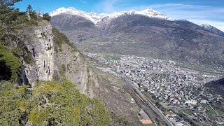 Visp Switzerland  city photos : Flug hoch über Visp Wallis Schweiz Switzerland