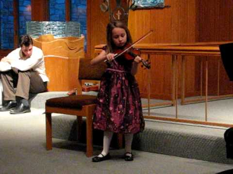 Alyssa December 2008 violin recital, age 6
