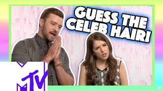 Justin Timberlake And Anna Kendrick Play GUESS THE CELEB HAIR! | MTV Video