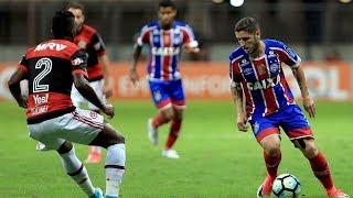 Bahia perde para o Flamengo em casa e entra pela primeira vez na zona do rebaixamento.Gol: Berrío.