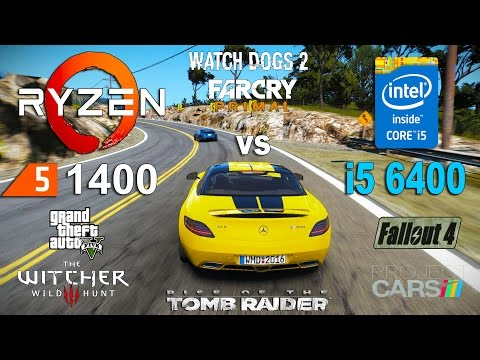 Ryzen 5 1400 vs i5 6400 Test in 7 Games (GTX 1060)