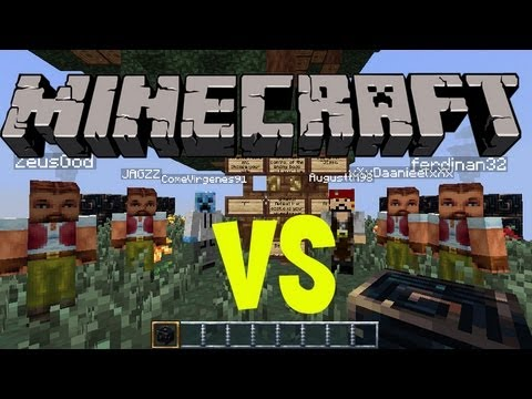 Minecraft Skybattles Virgenes VS Homos!!!