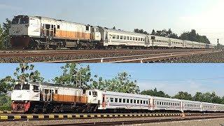 KA Fajar Utama Yogyakarta dan Logawa dengan lokomotif dinas CC 206