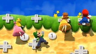 Mario Party 9 Garden Battle - Peach vs Luigi vs Daisy vs Mario| Cartoons Mee