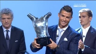 Congratulations to the 2016 UEFA Best Player in Europe! CRISTIANO RONALDO! His humble speech is also included. Thanks for watching! Please LIKE AND SUBSCRIBE...
