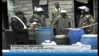 Police In Kitengela Arrests 12 Suspects And Destroys Over 3000 Litres Of Illicit Liquor