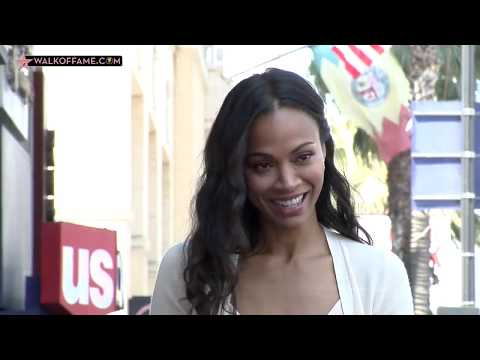 Zoe Saldana Walk of Fame Ceremony