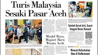 Turis Malaysia Sesaki Banda Aceh