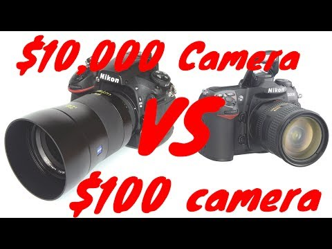 $10,000 Camera VS $100 Camera
