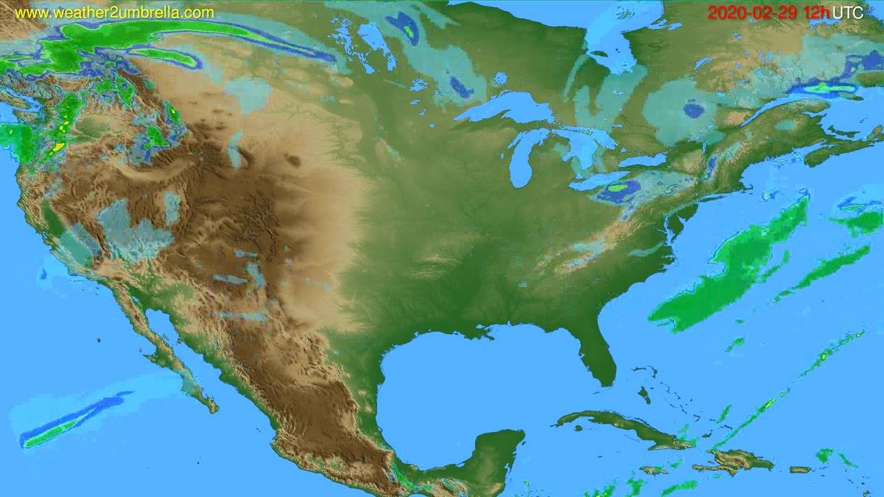 Radar forecast USA & Canada // modelrun: 00h UTC 2020-02-29