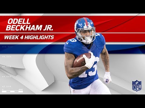 Video: Odell Beckham Jr. Highlights | Giants vs. Buccaneers | Wk 4 Player Highlights