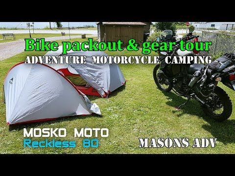 Bike pack out and gear tour (motorcycle camping)