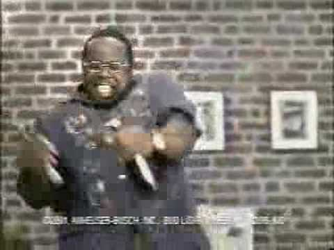 Bud Light commercial BIG BARRY WHITE LOOKING DUDE