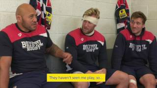 Watch Bristol Rugby trio Soane Tonga'uhia, Jordan Crane and Rob Hawkins take part in a gruelling interview by one of Aviva's next generation of ultimate mini fans! As part of the celebrations of Aviva's seven years of title sponsorship, they will be giving away two season tickets to one lucky Bristol Rugby fan for next season. Simply register here for your chance to win: bit.ly/2qbEiya (T&Cs apply)