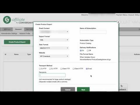 How To Get A XML Product File From CJ Affiliate