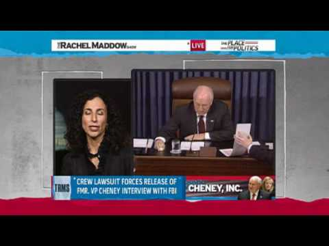 Melanie Sloan Discusses Release of Notes of Cheney's FBI Interview in Wilson Leak Case