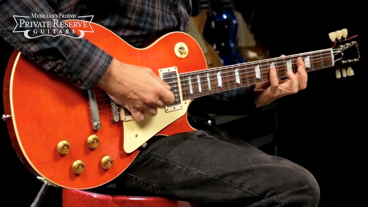 Gibson Custom 2018 Sweet Cherry Aged '58 Les Paul Standard Electric Guitar
