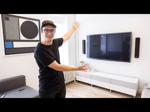 Mounting our TV and running cables in wall (How to) (видео)