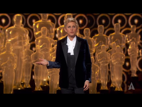 degeneres - Host Ellen DeGeneres' opening monologue at the 86th Oscars in 2014.