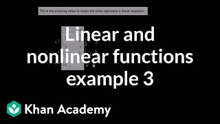 Linear and nonlinear functions (example 3) | 8th grade | Khan Academy