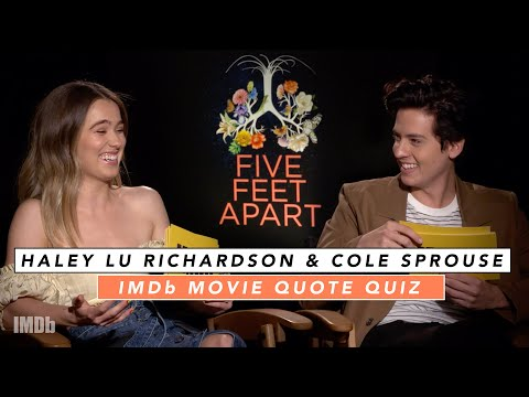 Cole Sprouse and Haley Lu Richardson Play Romantic Movie Quote Game