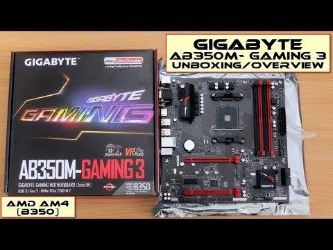 Gigabyte GA-AB350M-Gaming 3 Motherboard: Unboxing