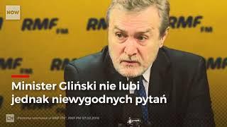 Podczas wywiadu dla RMF  ministrowi Glińskiemu puściły nerwy.