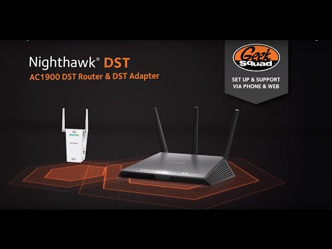 AC1900 Nighthawk® DST WiFi Router & DST Adapter Product Tour | NETGEAR | Geek Squad