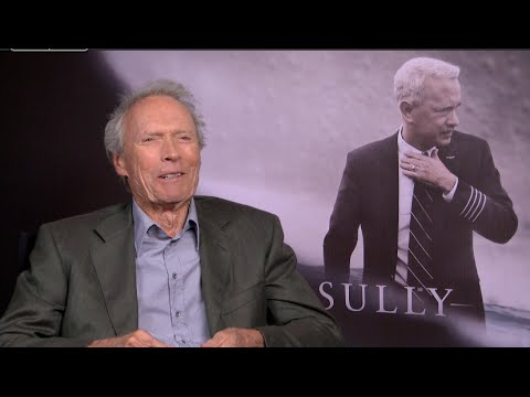 """Sully"" Cast interviews – Clint Eastwood, Captain Sullenberger, Linney, Aaron Eckhart"