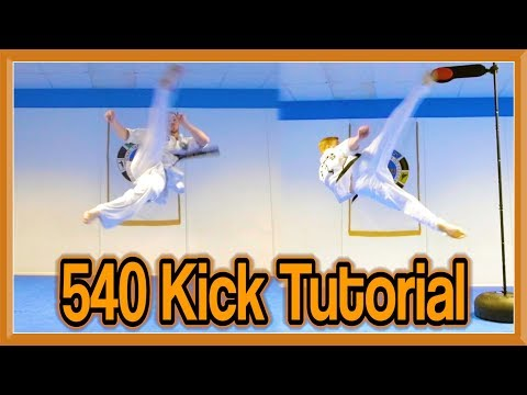 Taekwondo 540 Kick Tutorial (With Drills to Learn Quickly) | GNT How to (видео)