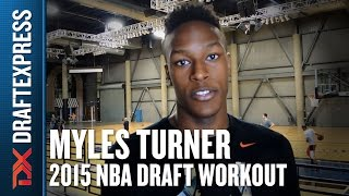 Myles Turner - Pre-Draft Workout & Interview - DraftExpress