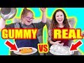 Gummy Food vs Real Food Challenge! (ft Sierra Haschak)
