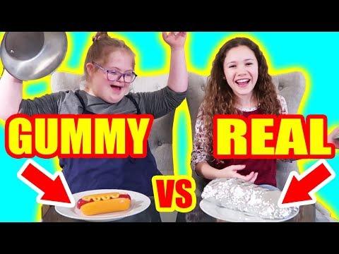 Video Gummy Food vs Real Food Challenge! (ft Sierra Haschak) download in MP3, 3GP, MP4, WEBM, AVI, FLV January 2017