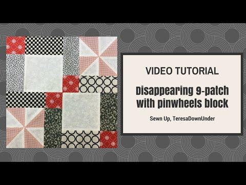 patchwork – variante del 9 patch con fantasia di girandole