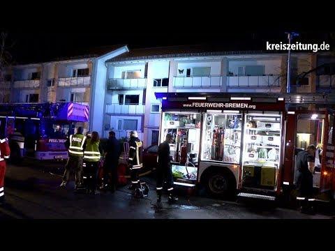 Wohnungsbrand in Bremen mit vier Verletzten