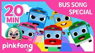 Video The Wheels on the Bus and more | Bus Songs | +Compilation | Pinkfong Songs for Children MP3, 3GP, MP4, WEBM, AVI, FLV Juli 2019