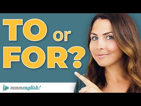 How to Use TO & FOR ⚡️English Prepositions | Common Grammar Mistakes