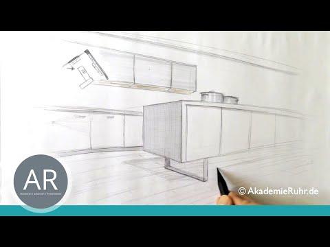 Zeichnen lernen, Akademie Ruhr, perspektivisches zeichnen, zweipunkt Perspektive