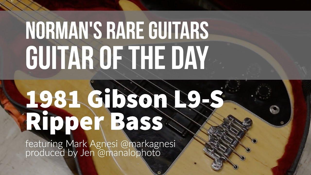 Norman's Rare Guitars – Guitar of the Day: 1981 Gibson L9-S Ripper Bass