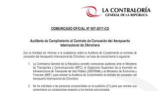Auditoría de Cumplimiento al Contrato de Concesión del Aeropuerto Internacional de Chinchero