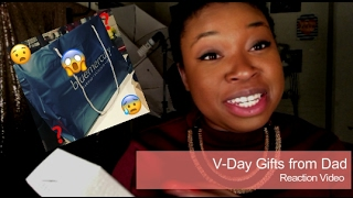 V-Day Gifts From Dad | Reaction Video!